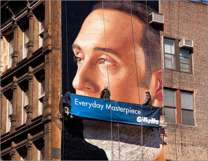 Gillette Shaves Jeter On NYC Billboard