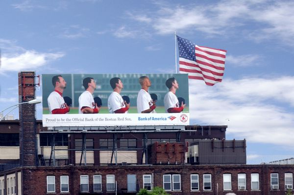 Bank of America Billboard Advertising over Fenway Park Boston