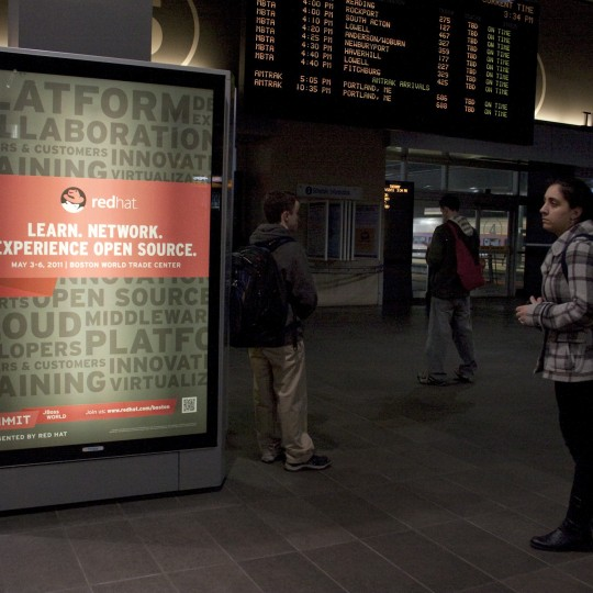 Red Hat – Backlit Posters – North Station, Boston, MA
