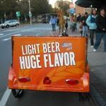 Coors Light - Pedicab Advertising, Rickshaw Advertising, Bike Taxi Advertising, Boston MA - Bud Light 2009