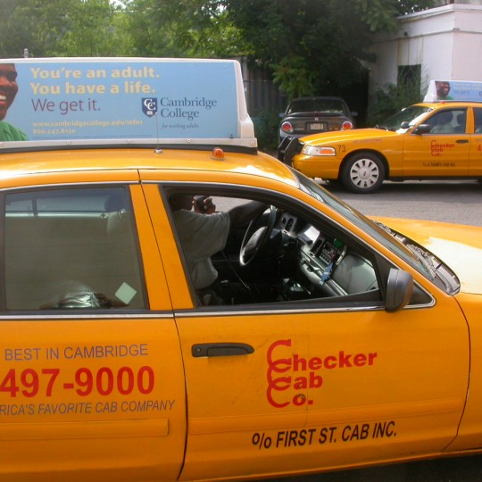 Cambridge College – Taxi Top ad campaign, Cambridge, MA
