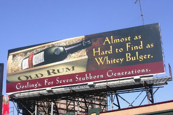 Goslings Rum Billboard Advertisement near Fenway Boston