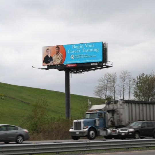 Porter & Chester Institute – Digital Billboard Campaign, Rt. 24 Randolph, MA