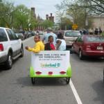 Coors Light - Pedicab Advertising, Rickshaw Advertising, Bike Taxi Advertising, Boston MA - Timberland-2