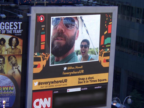 OOH Industry Brings Happy Faces to Times Square