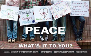 Peace billboards bring timely message to Boston