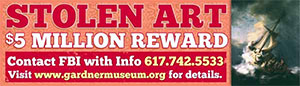 Billboards to display stolen Gardner Museum art